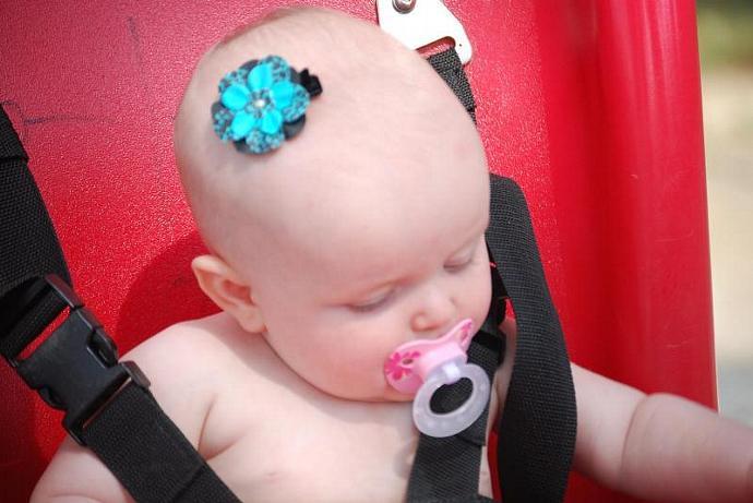LIMITED EDITION.... Blue Cheetah Hair Clippie