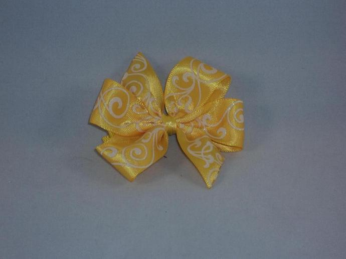 Yellow Pin Wheel Bow