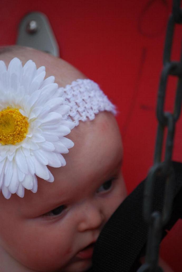 White Daisy Hair Clip