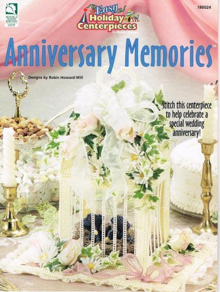 Anniversary Memories Centerpiece Plastic Canvas Pattern Book