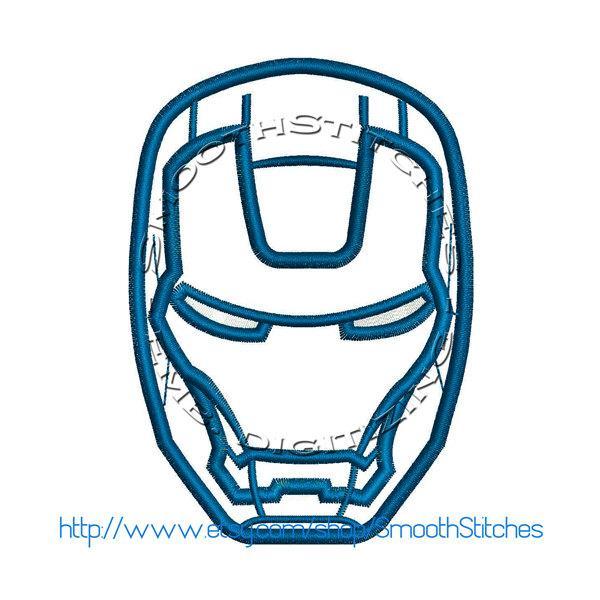 Iron Man Pes Embroidery Design