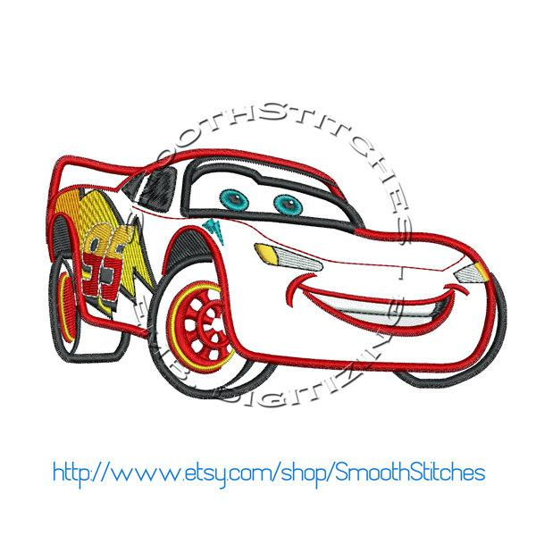 This design can be downloaded instantly from https www craftsy com embroidery patterns cars-lightning-mcqueen-embroidery-design Included in the download is a zip folder with the following formats pes exp jef dst/5(4).