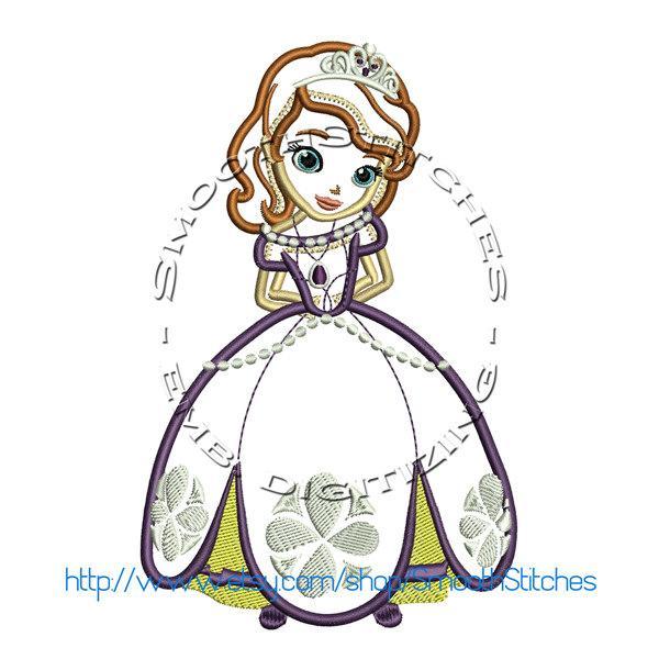 Sofia The First Embroidery Applique Design