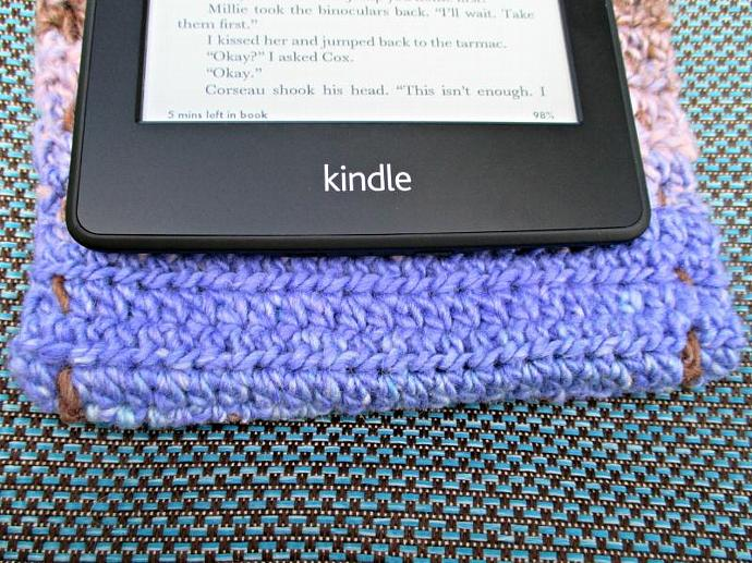 Cover for Kindle E-Reader- Multicolor Brown, Green, Purple