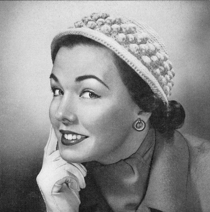 Women's Crocheted Cloche Hat Pattern PDF Vintage Pattern / Crochet hat pattern