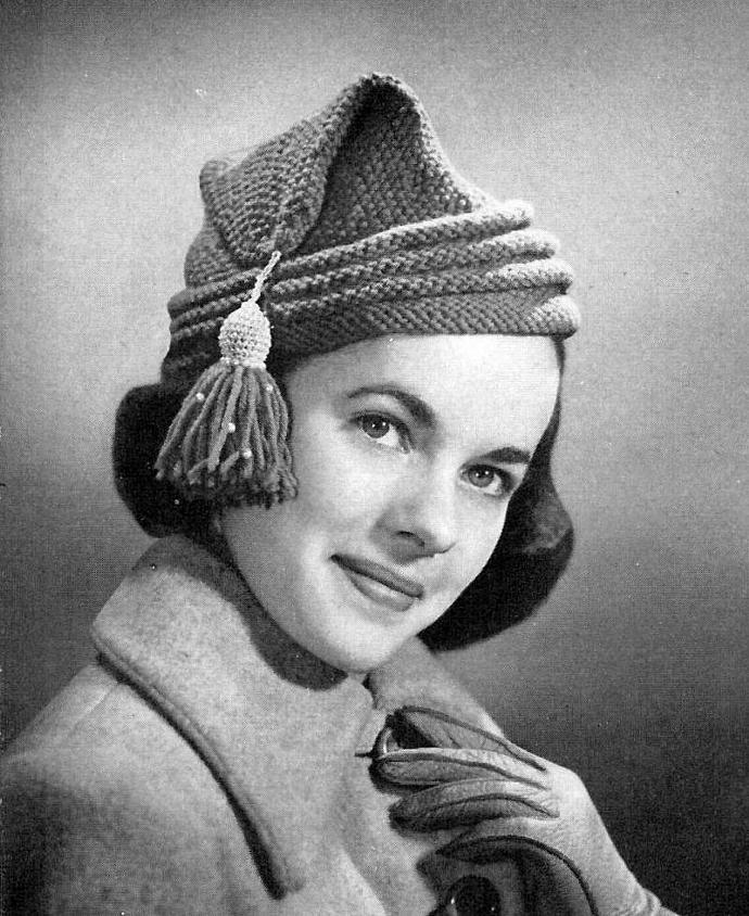 Women's l'Habitant Cap Knitting Pattern PDF Vintage Pattern / knitted toque