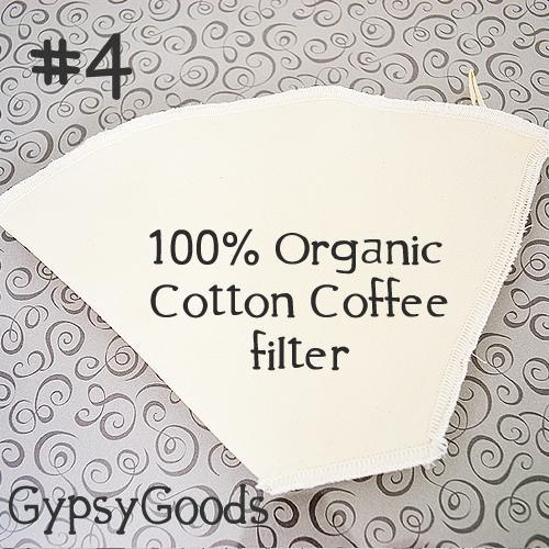 (1) Organic Cotton Fabric Coffee Filter #4