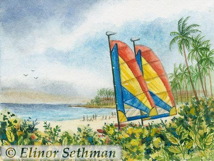 Sails At Wailea Beach 2
