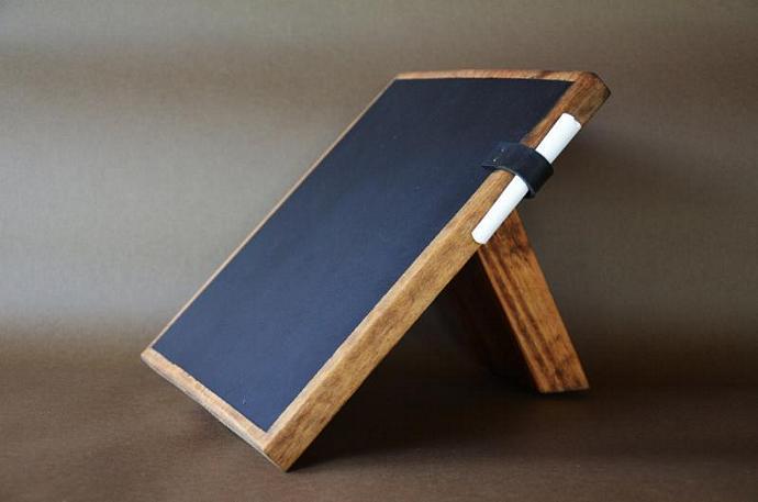 Table Wood Chalkboard / Kitchen Chalkboard