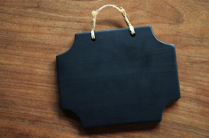 Hanging memo chalkboard - Wood Chalkboard