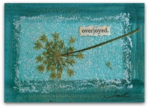 "Artist Trading Card, ""overjoyed."""