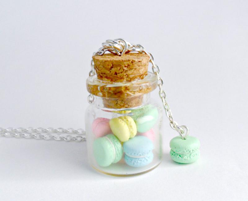 Jar of Macarons Necklace