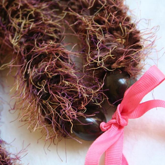 Fuzzy Brown Hawaiian Lei