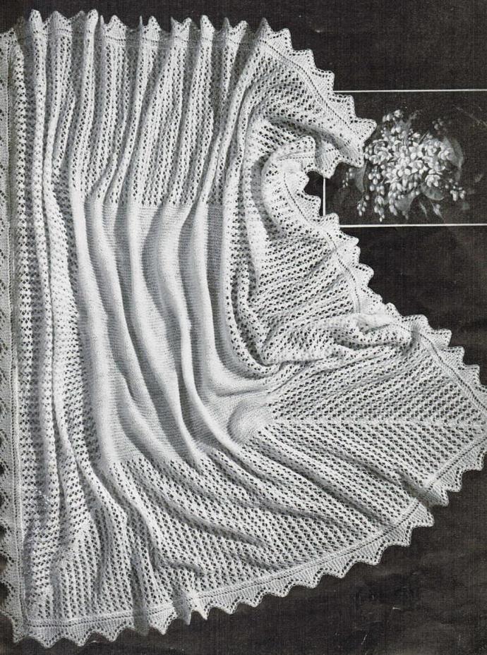Beehive Lace Shawl Vintage Pattern PDF Digital Pattern