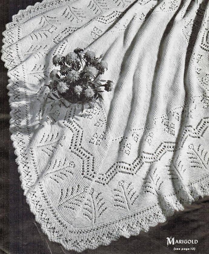 Beehive Heirloom Marigold Lace Shawl Vintage Pattern PDF Digital Pattern