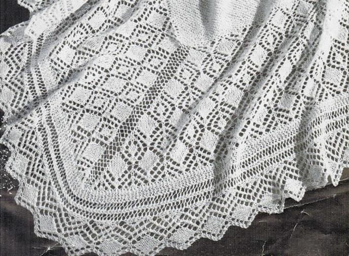 Beehive Lace Diamond Shawl Vintage Pattern PDF Digital Pattern