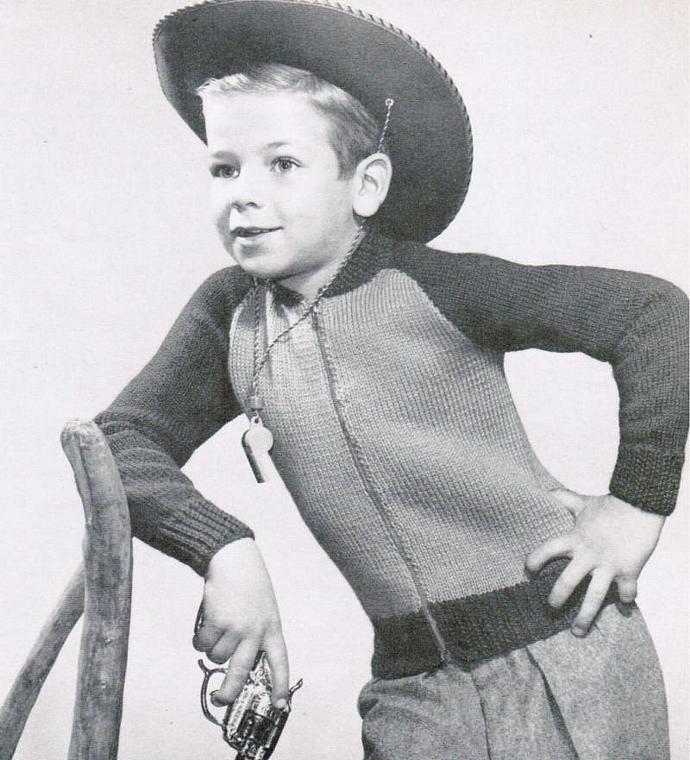 Beehive Boys Knit Heavy Raglan Sleeve Cardigan Vintage Pattern PDF Digital