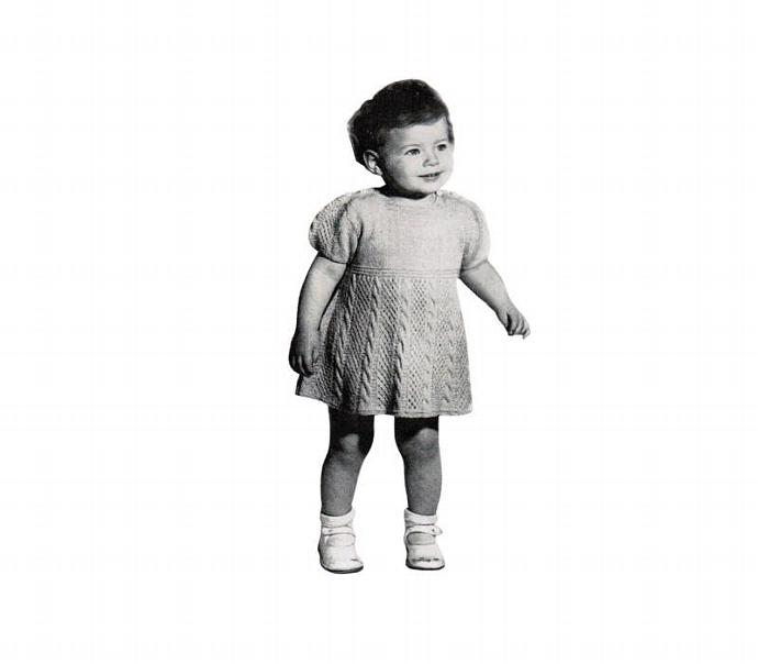 Monarch Baby Girl Knitted Dress Vintage Patterns PDF (Set of 3)
