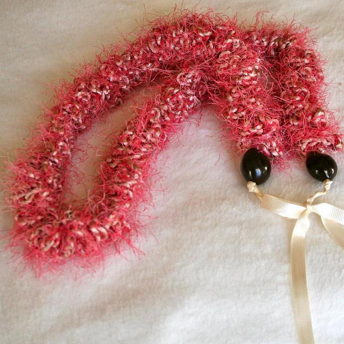 Pink Crochet Hawaiian Lei