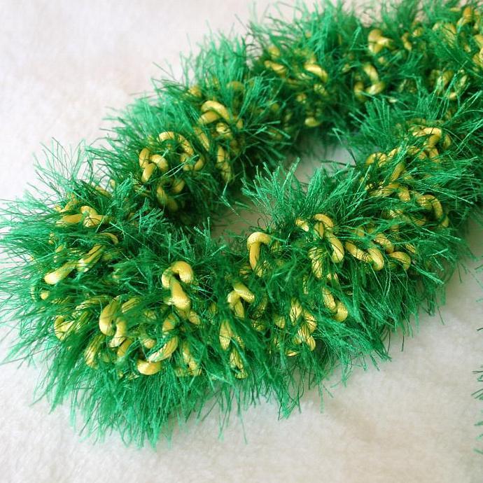 John Deere Green & Yellow Crochet Hawaiian Lei