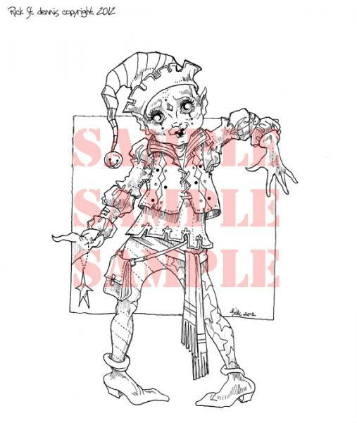 Cool Yule ELF digi stamp