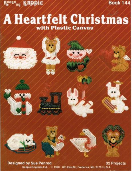 Heartfelt Christmas Ornaments/Gift Tags from Plastic Canvas Pattern Book