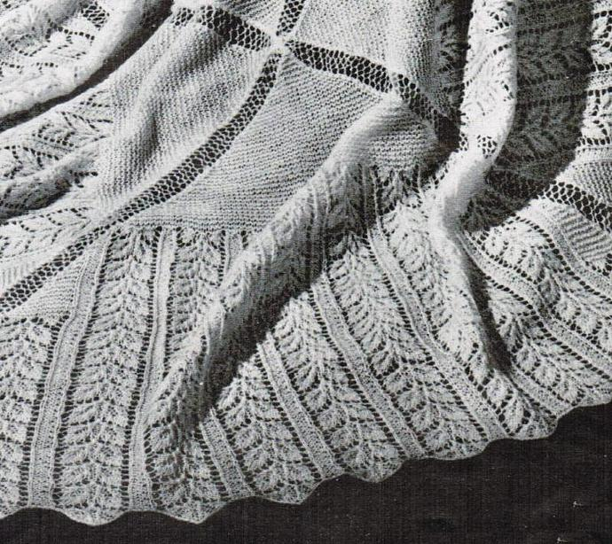 Beehive Rose Leaf Head Shawl Vintage Pattern PDF digital pattern