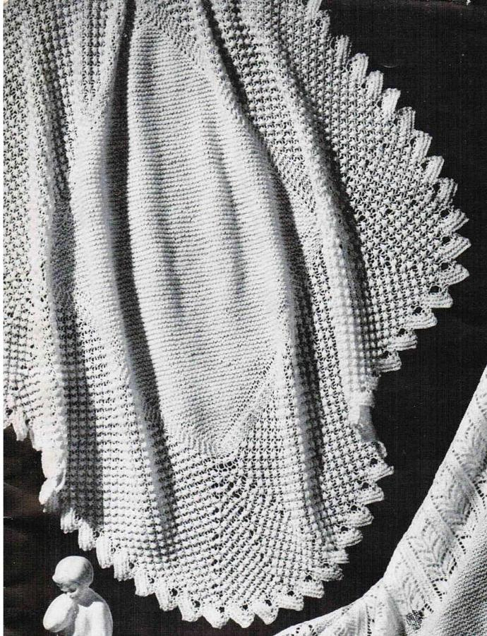 Edith Lace and Brambleberry Border Head Shawl Vintage Pattern PDF digital