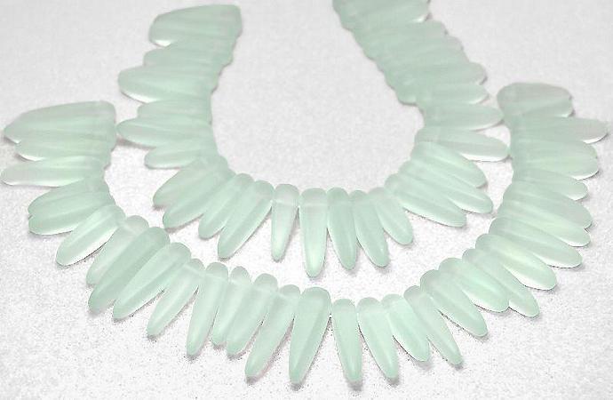 Aqua Daggers- recycled sea glass beads