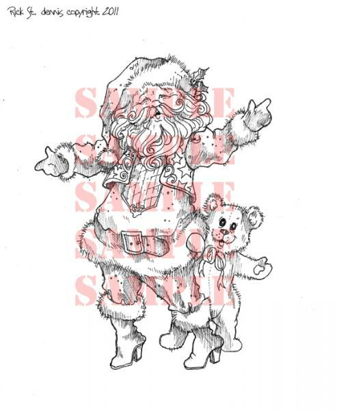 Welcome Home Santa digi stamp