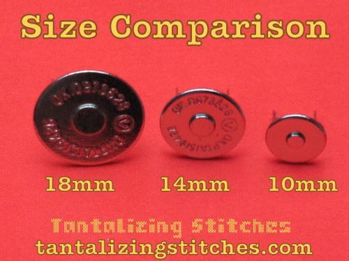 240 Sets 18mm Nickel Finish Extra Thin Magnetic Snaps - 2mm thin