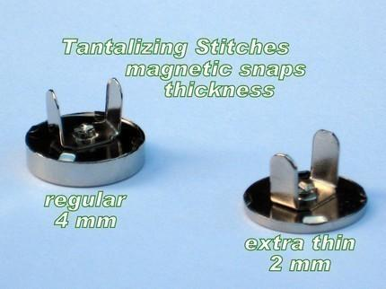 15 Sets 18mm Nickel Finish Extra Thin Magnetic Snaps - 2mm thin