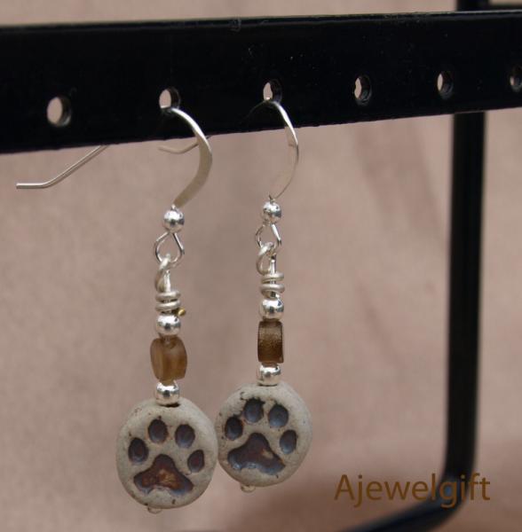 Earthy Paw Earrings-10044
