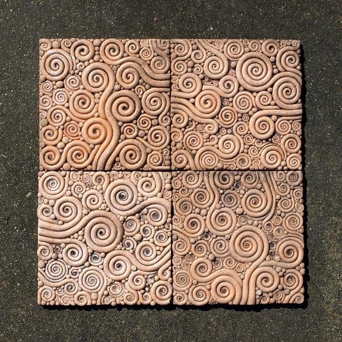 Tiles - Curly Pattern (4pcs.)