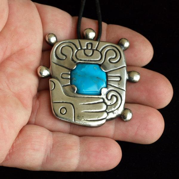 Mayan Glyph pendant