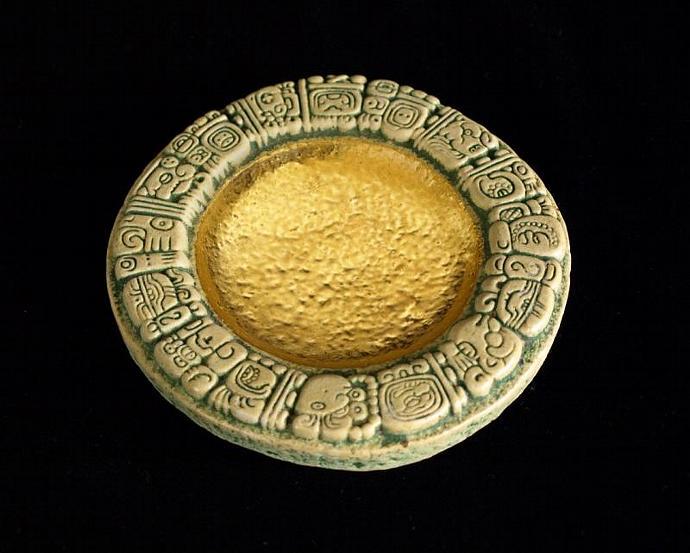 Golden Mayan dish