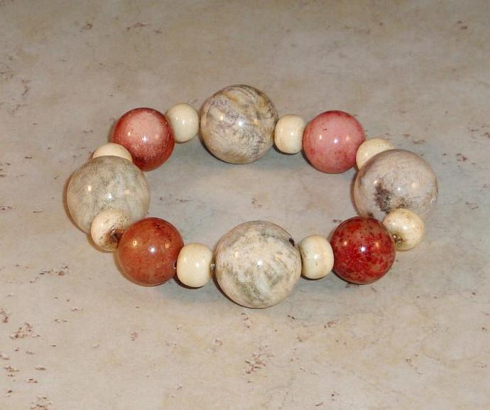Fossil Coral Bracelet