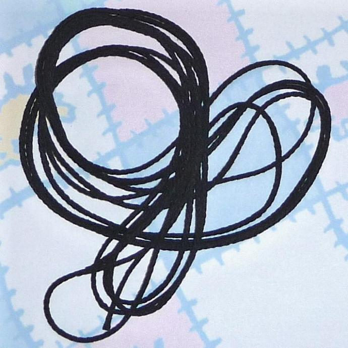 BLACK WOVEN COTTON CORD 5 Yards, one eighth inch thick