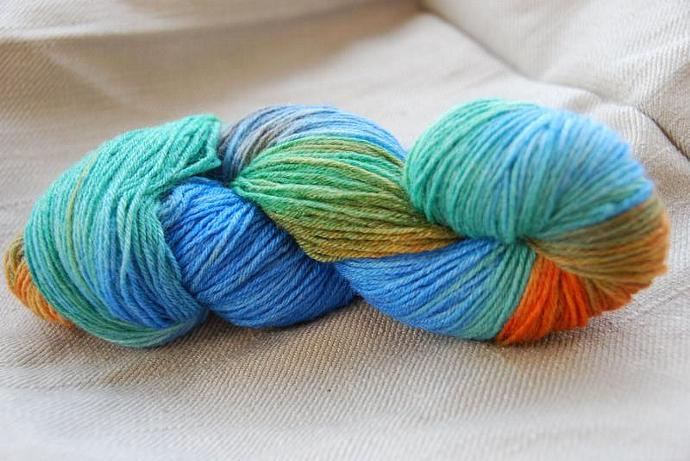 handdyed yarn -  100g/3,5 oz. -  Colour book of Kells