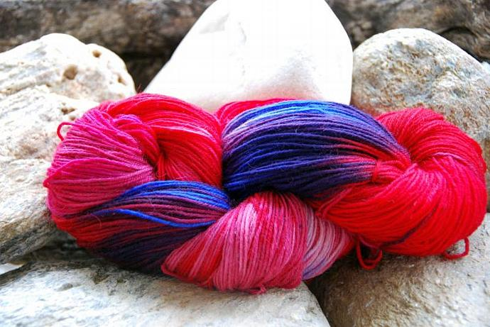 handdyed Yarn, 100g/ 3,5oz , colour 25a