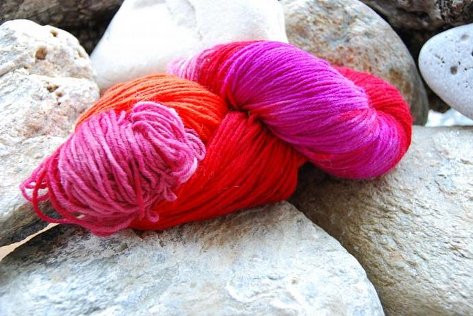 handdyed Yarn, 100g/ 3,5oz , colour 25