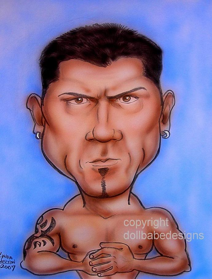 Batista Caricature ACEO Print From My Original Art