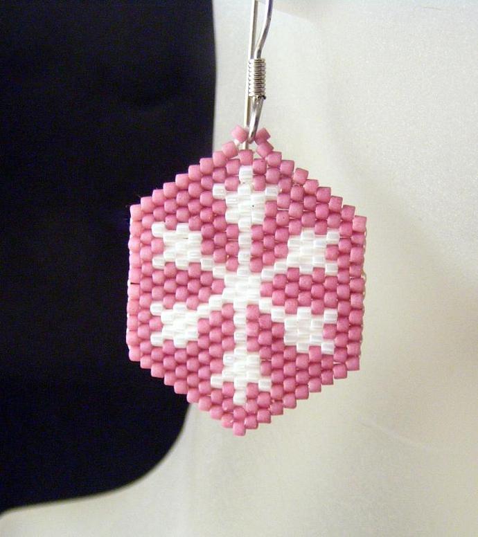 Snowflake on Rose Pink