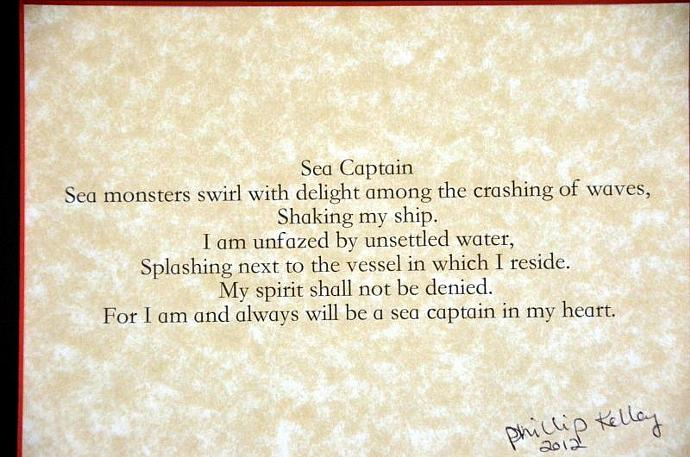 8x10 Matted Poem titled Sea Captain