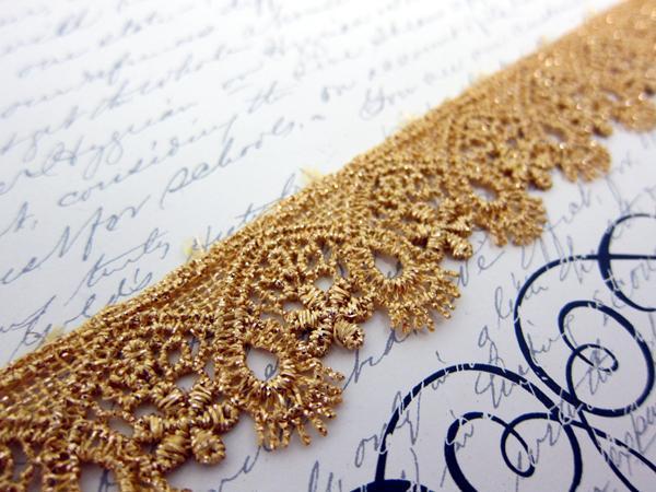 """Metallic Venise Lace - 1 1/8"""" Gold"""