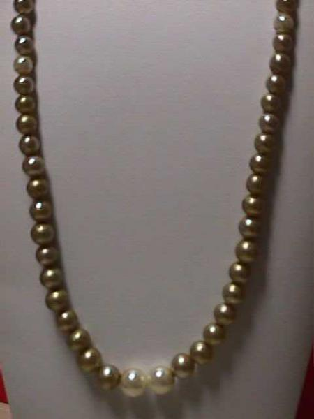Vintage - Mixed Size and Color Faux Pearls 1950s