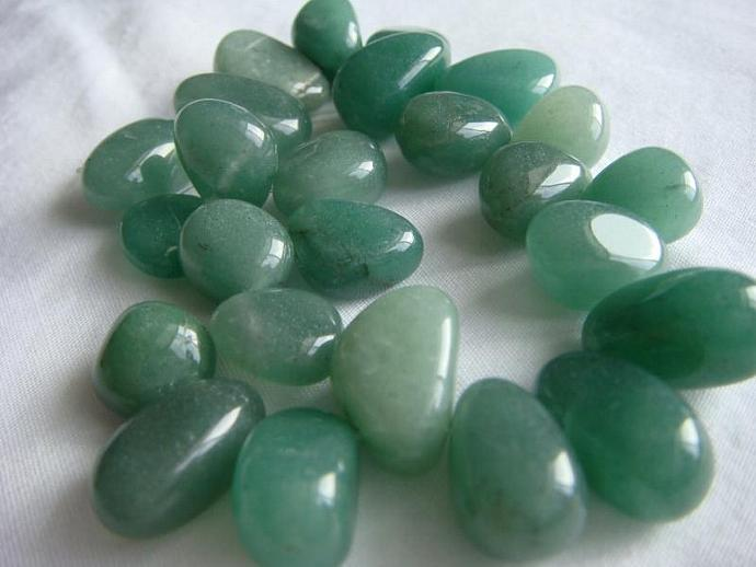 Faux Jade Nugget Beads