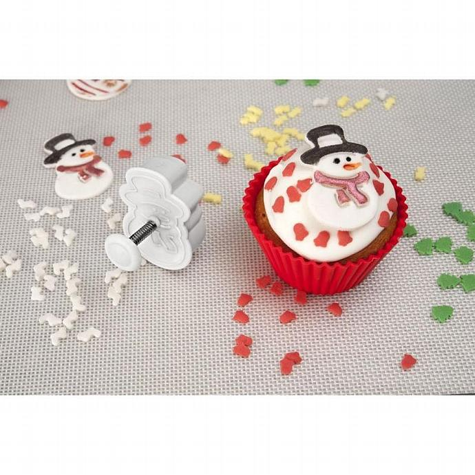 Christmas X-Mas Winter Holiday Theme Fondant Cookie Cutters Plungers Press Stamp