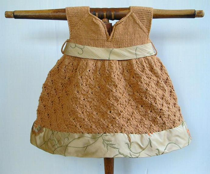Organic Baby Dress in Cotton and Silk