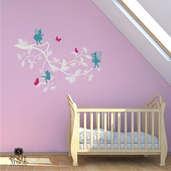 Wall Decals Enchanted Garden (Medium) - Vinyl Wall Stickers Art